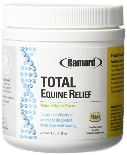 Ramard Total Equine Relief Powder - Apple Flavored, Aids in Minimizing Aches and Tenderness Associated with Every Day Activities - Faster Recovery, No Digestive Upset or Harsh Side Effects. 4.5 Ounce