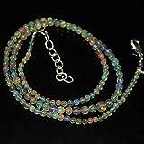 LKBEADS Welo Fire - Collar de cuentas de ópalo etíope liso redondo con bola de piedras preciosas sueltas para manualidades, 48 cm de largo, 6 mm de largo, 2 mm, código HIGH-28027