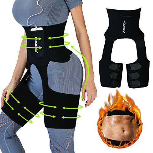 HOMELEX 3-in-1 Thigh Waist Trimmer for Women - Weight Loss Butt Lifter Trainer Slimming Support Belt Hip Raise