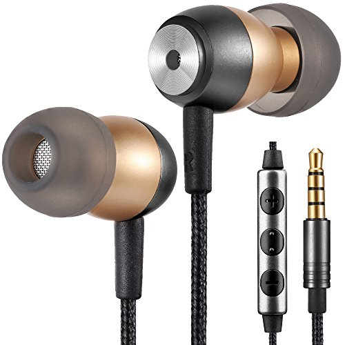 Betron GLD60 Noise Isolating In-Ear Headphones, Earphones with Different Sized Silicone Earbuds, Vivid Bass Sound And Gold Plated Connector