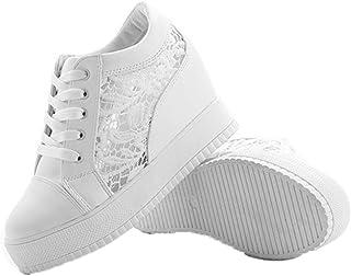 Tägliche atmungsaktive Schnürschuhe für Damen Weiß 38 in