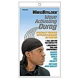 4. WaveBuilder Premium Hair Wave Activating Durag, Black
