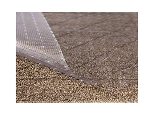 Resilia - Clear Vinyl Plastic Floor Runner/Protector for Low Pile Carpet - Non-Skid Decorative Pattern, (27 Inches Wide x 25 Feet Long)