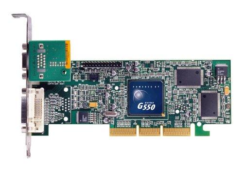 Matrox G55 Passiv Grafikkarte (AGP, 32MB DDR2 Speicher, DVI/VGA or VGA/VGA Display, 1 GPU)