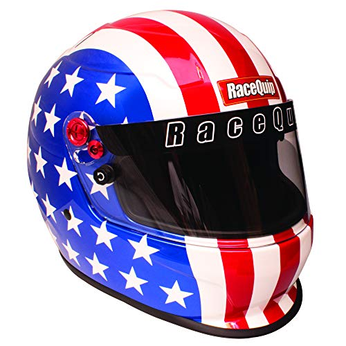 RaceQuip Full Face Helmet PRO20 Series Snell SA2020 Rated America Graphic X-Large 276126