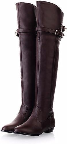 Les bottes d'hiver bottes hautes bottes femme Chevalier tube rond