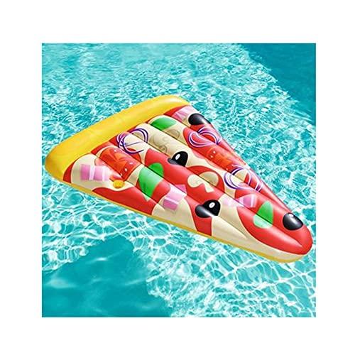 WANSE 70'Piscina Inflable Flotador Tumbona Pizza Rebanada Piscina Flotador Balsa Juguetes acuáticos Amarillo y Naranja Verano Playa y Piscina Silla Flotante