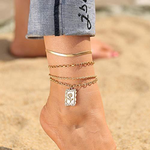 NIUBKLAS Bracelet de Cheville Collier chaîne Punk Multicouche pour Femme 2021 Or Tendance Papillon Coquille Cheville Cheville Bracelet Bijoux de Plage-Buy_3_Save_10percent