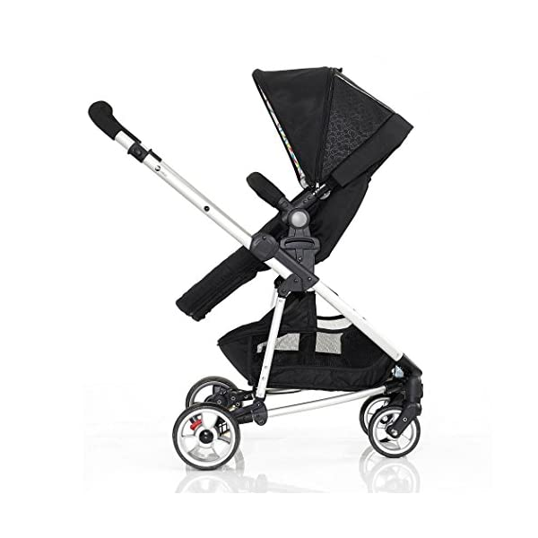My Child Floe Reversible Convertible Pushchair, Rainbow Squiggle My Child Includes mattress, liner and apron with pocket Extra large hood with peek-a-boo window Seat unit with 3 position recline 5