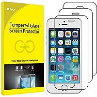JETech Protector de Pantalla Compatible Apple iPhone SE (Edición 2016), iPhone 5s, iPhone 5 y iPhone 5c, Vidrio Templado, 3 Unidades