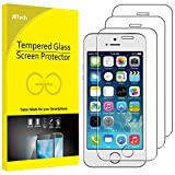 JETech Screen Protector for iPhone SE 2016, iPhone 5s 5c 5, Tempered Glass