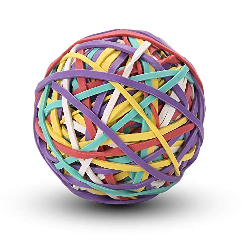 iDream365 Rubber Band Ball,150gm(About 180 Bands per Ball),Assorted Colors Rubber Bands Elastics Bands for Home,Office