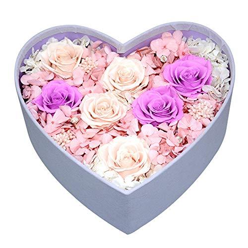 LIYANG Rosa Eterna Caja de Regalo de Flores Rosas Eterno Hecho a Mano Creativo de la Flor for Enviar Novia de San Valentín Navidad Regalos De Cumpleaños Románticos para Novia