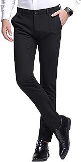 Jearey ビジネススラックス メンズ ノータック スリム チノパンツ ロングパンツ 光沢 美脚 通勤 ストレート 仕事着 オールシーズン ビジネス カジュアル 3スタイル 4カラー8サイズ展開