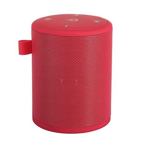 Hancoc Red Bluetooth Mini Altavoz sin Hilos Portable al Aire Libre del TF Radio FM estéreo de Alta definición de Audio Bluetooth Barra de Sonido