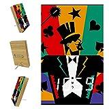 Z&Q Reloj Despertador Inteligente Caballero De Póquer Aplicar...