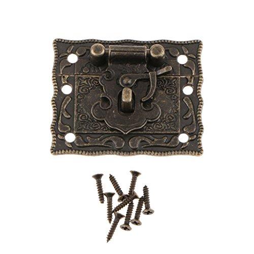 Herrajes De Estilo Antiguo Cierre De Metal De Bronce Con Cierre Rectangular 50 Mm X 40 Mm