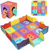 StillCool Alfombra Puzzle para Niños, Alfombra de Juguete de Espuma Tridimensional para Rompecabezas, 25 Piezas de Grosor (0,47 Pulgadas) para decoración de la habitación de los niños