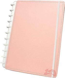 Caderno Grande Tons Pastéis Rosa com 80 Folhas Caderno Inteligente