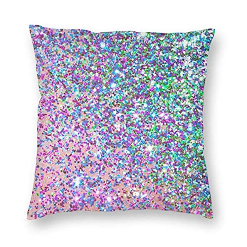 Square Throw Pillow Covers Glitter Beauty Protectors Sofa 45 X 45 cm Christmas Decorative Cushion Covers
