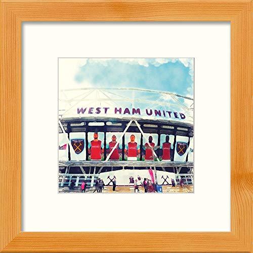 L Lumartos West Ham Stadium Hedendaagse Home Decor Muurdecoratie Aquarel Print