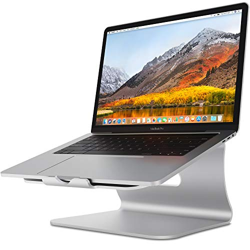 Laptop Stand  Bestand Aluminum Cooling MacBook Stand: Update Version Stand Holder for Apple MacBook Air MacBook Pro All Notebooks Sliver Patented