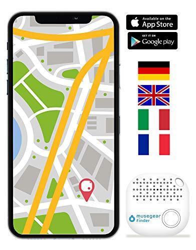 musegear Localizador de Llaves App - Blanco - Nueva VERSIÓN 2   Más Volumen - 1 Paquete