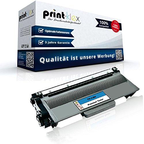 1x kompatibler XXL Toner für Brother HL-5480DW HL-6180DW HL-6180DWT MFC-8510DN TN-3380 TN3380 Black Premium, 8000 Seiten
