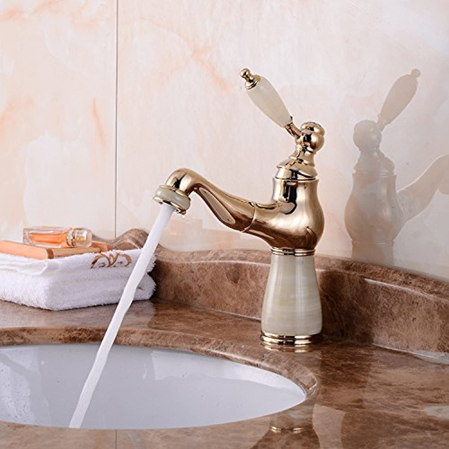 ZXYSink faucet Cu continental basin faucet telescopic pull type ryuto hot and cold water mixing tap