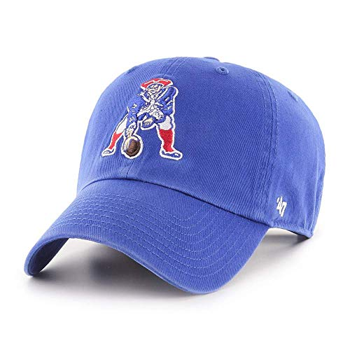 '47 New England Patriots Throwback Clean Up Adjustable Hat - Royal