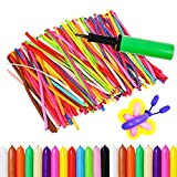 Best Pcs With Balloons Pumps - 150PCS Latex Twisting Balloons, 260Q Assorted Color Magic Review