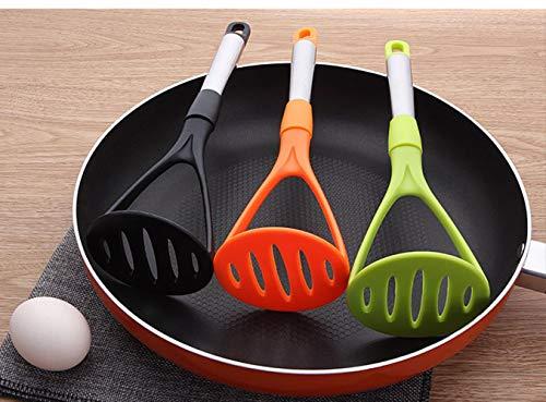 HTUYS Edelstahl + PP Kunststoff Kartoffelstampfer Zerkleinerungsplatte für Glatte Kartoffelpüree Obst Gemüse Werkzeuge Press Crusher, Grün