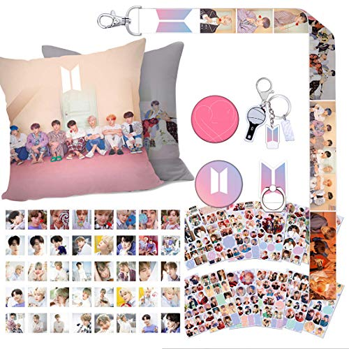 Mejor Gifts Set for Fans - 40Pcs Lomo Cards, 1 ID Card Badge Holder, 1 Lanyard, 1 Phone Finger Ring Stand, 1 Keychain, 1 Wrist Strap, 2 Tattoo Stickers, 2 3D Stickers crítica 2020