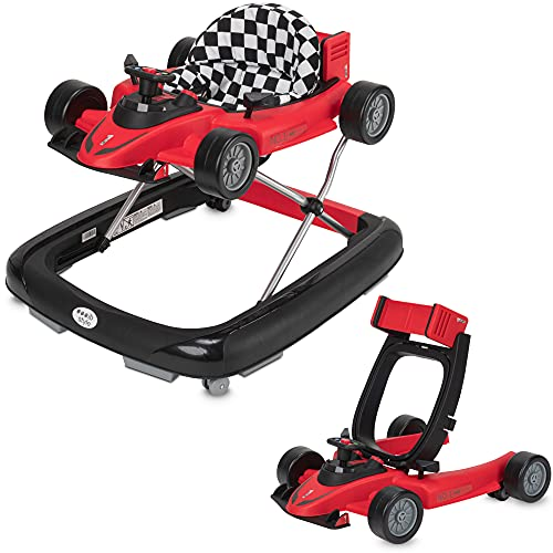 ib style® LITTLE SPEEDSTER |2 en 1| Trotteur bébé | Baby walker | avec effet sonore |EN 1273:2020 | ROUGE