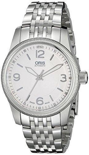 Oris 733 7649 4031 MB Swiss Hunter Team PS Edition Display analogico automatico automatico orologio argento