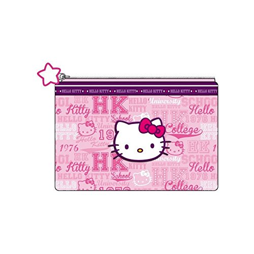 Hello Kitty - trousse plate rose 21.5 x 16 cm - collection college country
