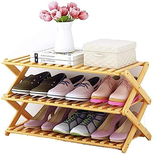 Wddwarmhome Montaje Plegable de Zapatos de bambú Bastidor de Zapatos Plegable Montaje Moderno Moderno Moderno Simple Hogo ZAPAIL (Size : 90cm*31cm*42cm)