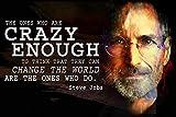 Motivational Classroom Poster Steve Jobs Growth Mindset Apple Computer Crazy Think Different P006