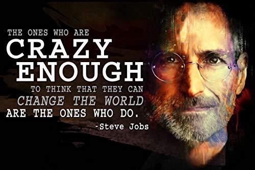 Motivationsposter für Klassenzimmer, Motiv: Steve Jobs, Wachstum, Mindset Apple Computer Crazy Think Different P006