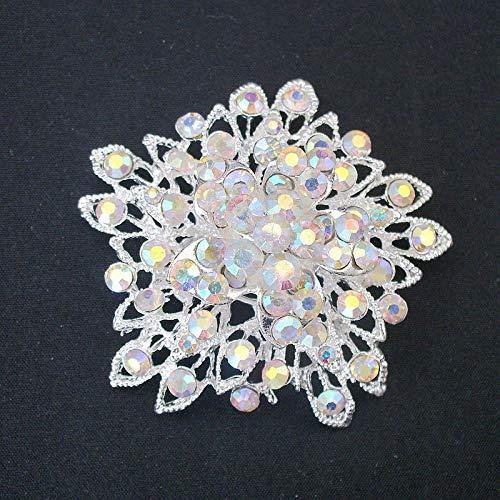ZDJDMZ Modebrosche Für Frauen Große Kristall Strass Vintage Blumenstrauß Brosche Für Hochzeit Brautschmuck Mit Ab Stones Star Pin