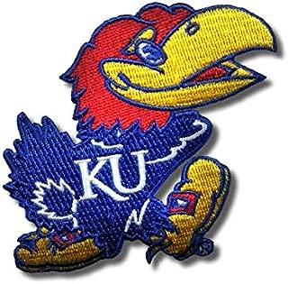 NCAA Team Embroidered Patch Badge Emblem (University of Kansas Jayhawks)
