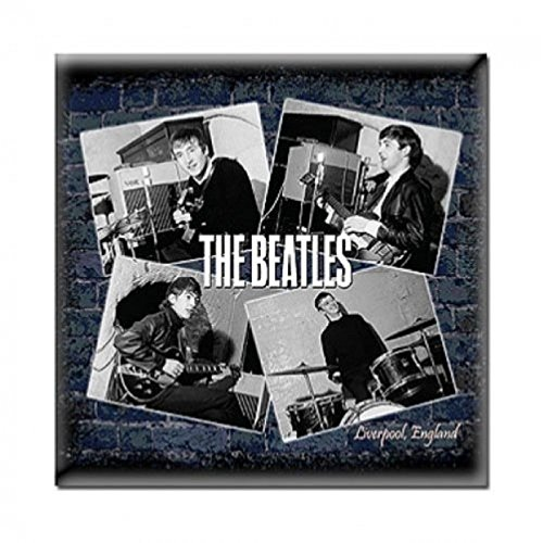 The Beatles 冷蔵庫用マグネット Live At The Cavern 新しい 公式 76Mm X 76Mm