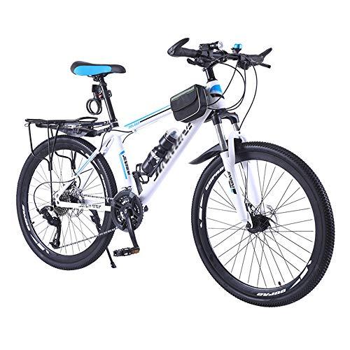 Bicicleta, Bicicleta de Montaña de Choque, Bicicleta de 26 Pulgadas Y 27 Velocidades, Se Adapta a Varios Terrenos, Marco de Acero con Alto Contenido de Carbono, para Mujeres U Hombres/A /