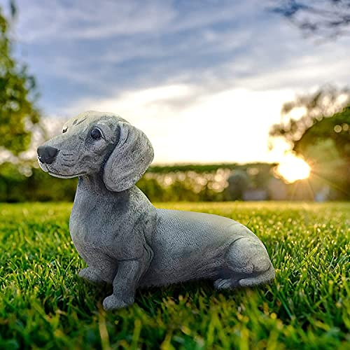 Garden Dog Statue,French Bulldog Statue Garden Decor - Yard Lawn Resin Dog Sculpture, Outdoor Indoor Decorations, Lawn Garden Figurine Dog Statue, Dog Memorial Gifts for Dog Lovers
