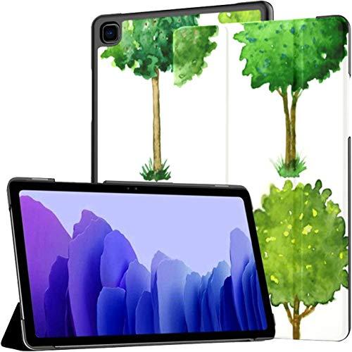 Funda para Tableta Samsung Galaxy Tab A7 de 10,4 Pulgadas 2020 (sm-t500 / t505 / t507), Seis árboles en Flor, Forma Recortada, Funda de Soporte de múltiples ángulos con activación/Reposo automático