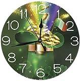 Mailine Reloj de Pared Número de Reloj Reloj de Pared Decorativo Silencioso sin tictac - Redondo Fácil de Leer Reloj Decorativo