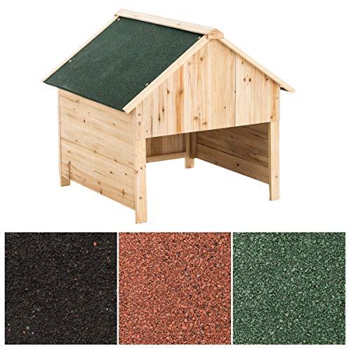 CLP Box Casetta in Legno Porta Attrezzi da Giardino I Casetta Esterno Piccolo Armadio Giardino I Capanno Attrezzi, Colore:Verde