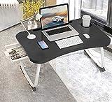 MGsten Mesa de Cama para Ordenador portátil Plegable con Soporte para Bebidas, Bandeja portátil con cajón, Escritorio ergonómico para portátil en la Cama, sofá, Oficina(60x40x28cm
