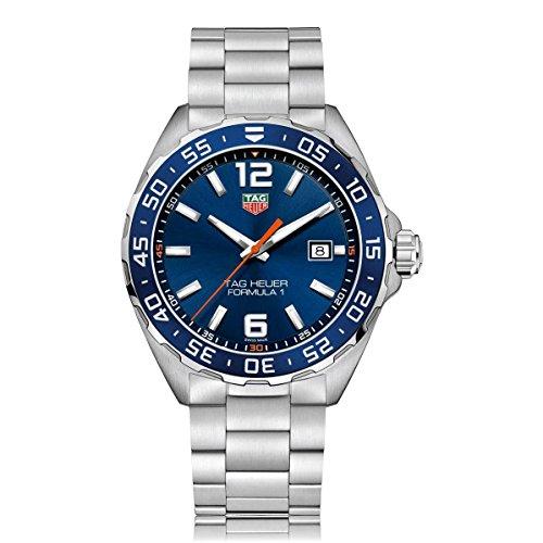 TAG Heuer Herren Analog Quarz Uhr mit Edelstahl Armband WAZ1010.BA0842