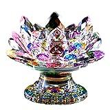 Golden.Y - Portavelas de Cristal, diseño de Loto, Elegante portavelas de Cristal con...